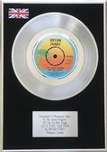 "BRYAN FERRY - 7"" Platinum Disc - LETS STICK TOGETHER"